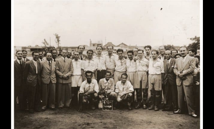 Members of a Jewish football team in Shanghai, 1943