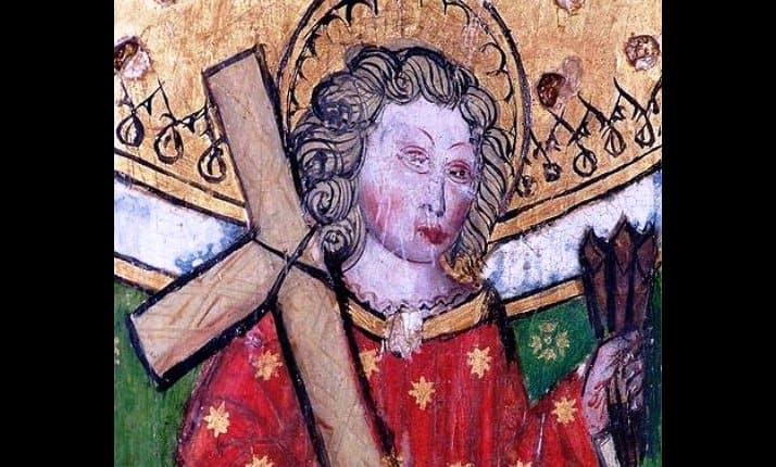 This fifteenth century painting depicts William of Norwich (c.1132-1144). William's death became the first case of the Blood Libel accusation in England.
