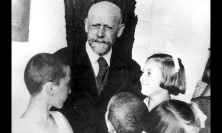 Janus Korczak was a Polish Jewish doctor, author and teacher. He set up an orphanage in Warsaw. After the Warsaw ghetto was established Korczak refused to follow German occupation rules. During the liquidation of the ghetto he refused to abandon the children, even accompanying them to their deaths in Treblinka so that they should not be frightened of the dark.