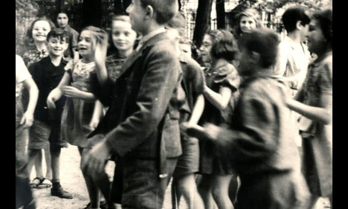 photograph of Jewish children in Theresienstadt, taken by the Red Cross during their visit on 23 June 1943.