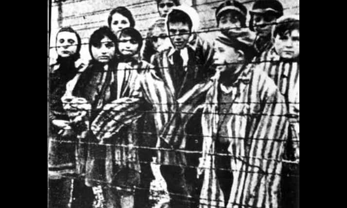 Auschwitz children after liberation.
