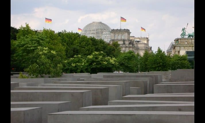 The memorial to the murdered Jews of Europe, also known as the Holocaust Memorial, Berlin, Germany. (See below for detailed explanation)