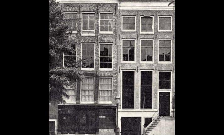 Anne Frank's home in Amsterdam before the Germans invaded.