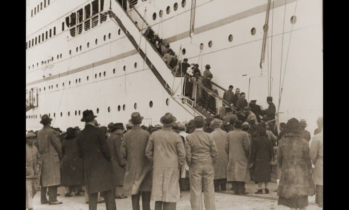 The arrival in Shanghai of Austrian Jewish refugees, 14 December 1938