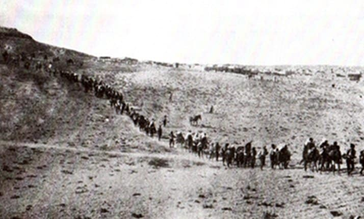 A group of Armenian orphans evacuating from Turkey, 1922