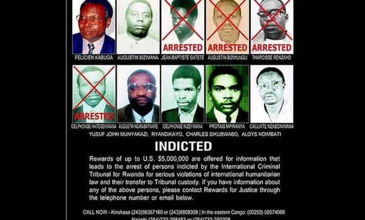 Rwandan Genocide 'wanted poster'