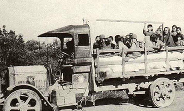 The evacuation of blind and disabled Armenian orphans from Turkey by J.Küntzler, 1922