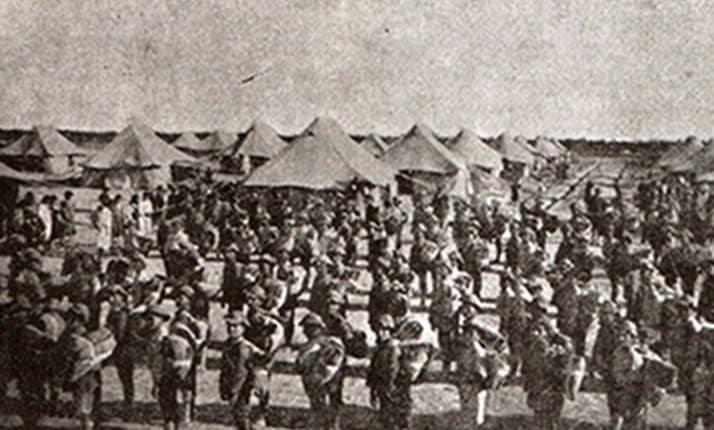 The evacuation of 816 Armenian orphans from Nahr El-Omar to Jerusalem, 1921