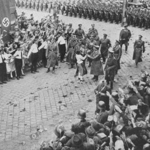 <p>On 10 October 1938, the Sudetenland was occupied by the German Wehrmacht and annexed. </p>