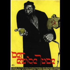 <p>On 8 November 1937, an exhibition called 'The Eternal Jew' was opened in Munich. The exhibition promoted antisemitic stereotypes.</p>
