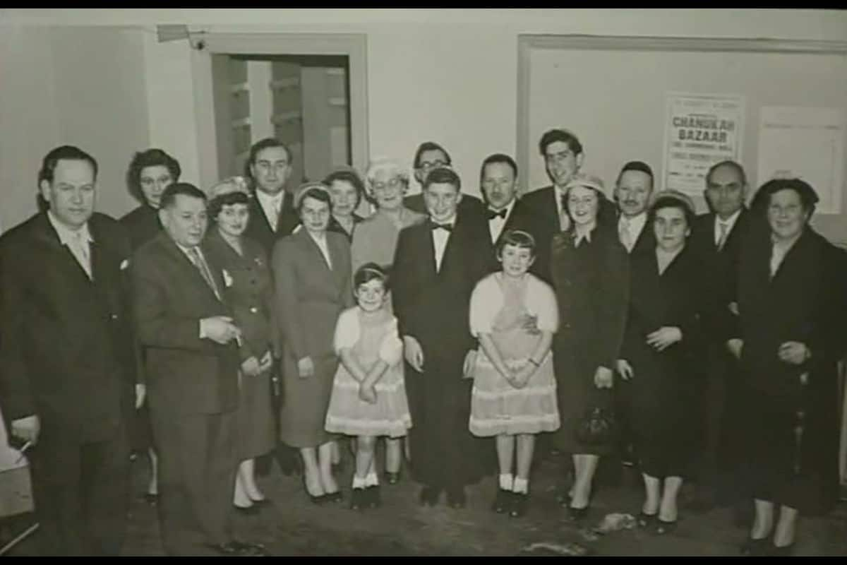 The Cofnas family at their son's Bar Mitzvah in Birmingham 1956.