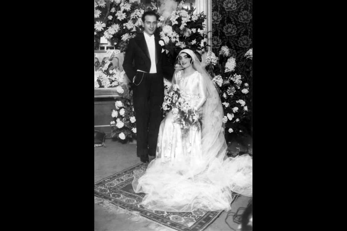 Adele and Bernhard Hirschowitz, a Jewish couple, at their wedding in 1932.