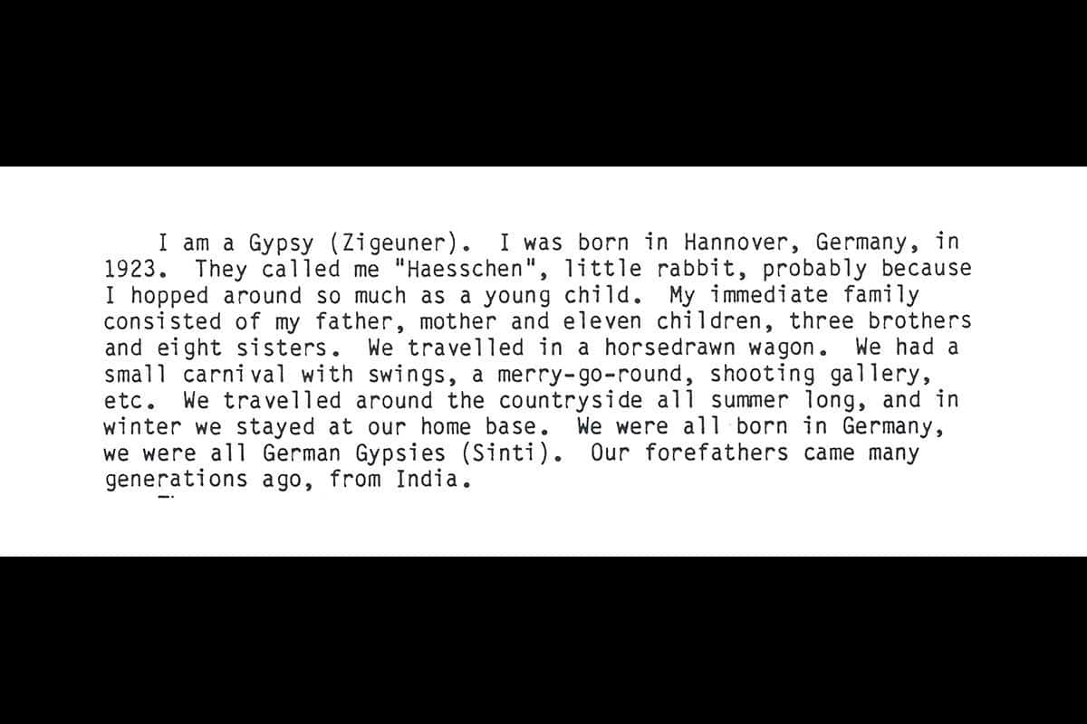 The testimony of Hans Braun, a boy from Germany who would later be persecuted at the hands of the Nazis, describing his childhood.