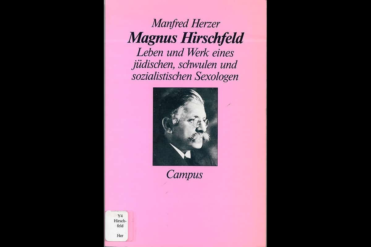 Dr. Magnus Hirschfeld was a Jewish physician and homosexual. His is today viewed as the pioneer of the gay rights movement in Germany. This biography, entitled Magnus Hirschfeld, the Life and Work of a Jewish, Gay and Socialist Sexologist, is one of many of Hirschfeld.