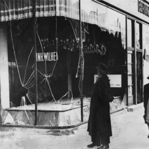 <p>On 9 November 1938, Kristallnacht took place. Throughout Germany, synagogues were burned and Jewish businesses were looted by the Nazis.</p>