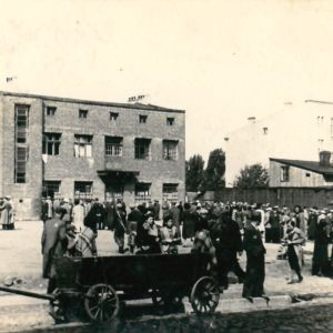 <p>On 16 January 1942, the Nazis began the deportation of Jews and Roma from Łódź Ghetto to Chelmno extermination camp.</p>