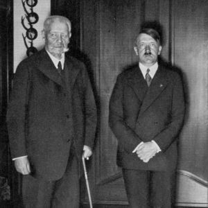 <p>On 30 January 1933, Adolf Hitler was appointed chancellor by President Hinderburg.</p>