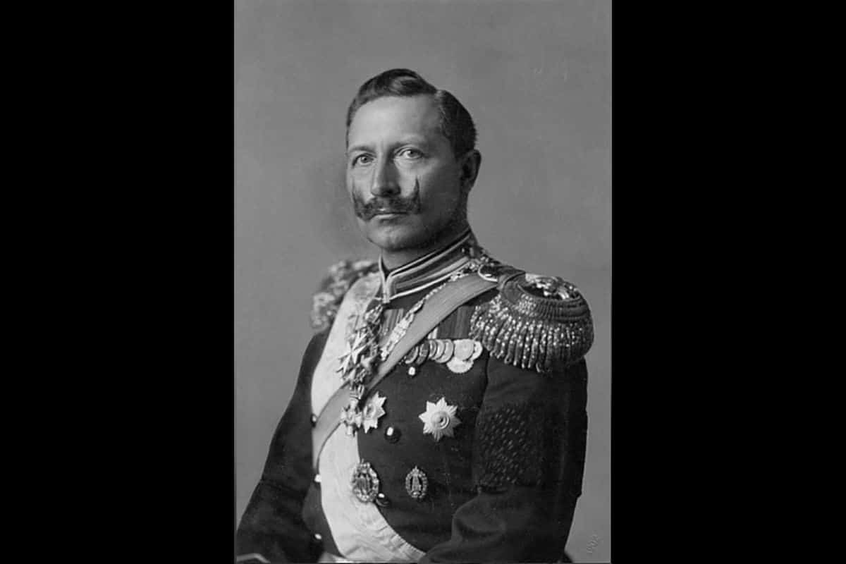 A portrait of Kaiser Wilhelm II, the Emperor of Germany. The Kaiser ruled Germany from the 15 June 1888 to the 9 November 1918.