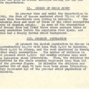 <p>On 6 February 1943, Jews in Thessalonika, Greece, were forced into ghettos. One month later, 45,000 of them were deported to Auschwitz.</p>
