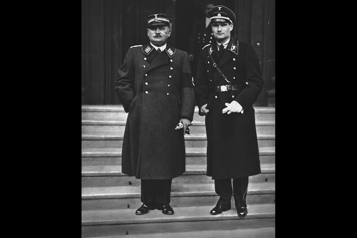 Röhm is pictured here on the left next to Rudolf Hess, who was the deputy Führer from 1933-1941.