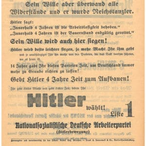 <p>On 5 March 1933, elections were held for the German Reichstag. The Nazis used violence to increase their vote share. </p>