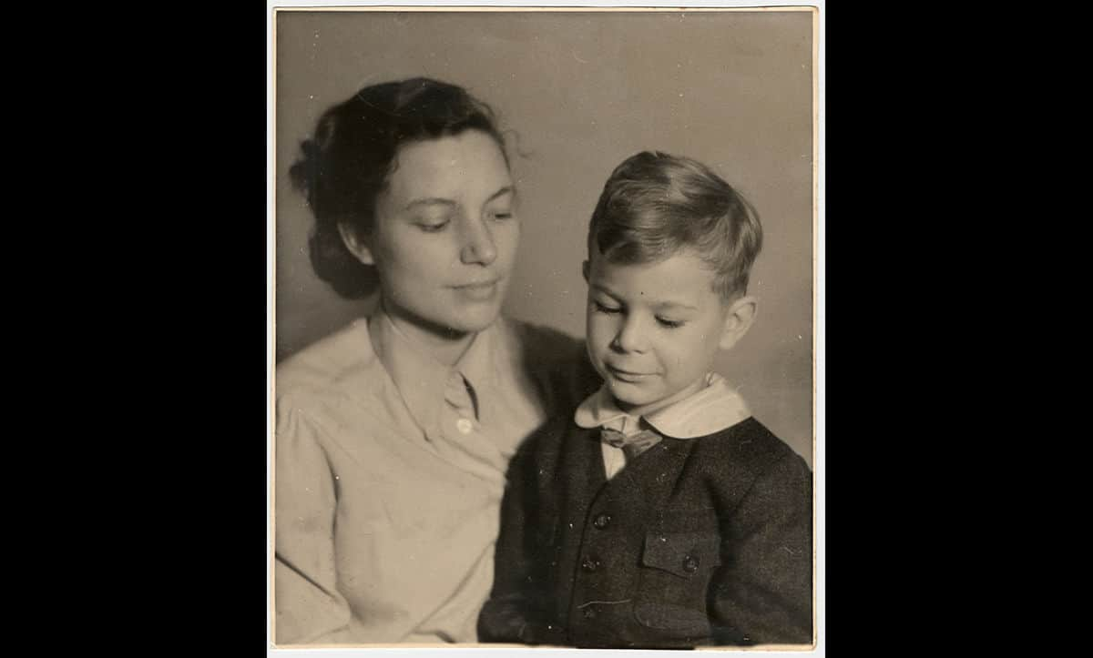 This is a photograph of Luta Wagemann and her son Robert Wagemann, taken around 1942-1943. The Wagemann family were Jehovah's Witnesses. In 1937, Luta was arrested for handing out anti-Nazi Jehovah's Witness pamphlets and imprisoned in Mannheim. She was released just a few days before giving birth. When Robert was four, Luta had to take him into hiding for the rest of the war. This was to avoid persecution and potential euthanasia (as he was born with a shattered hip he was also considered disabled by the Nazis). Both Luta and Robert survived the war.