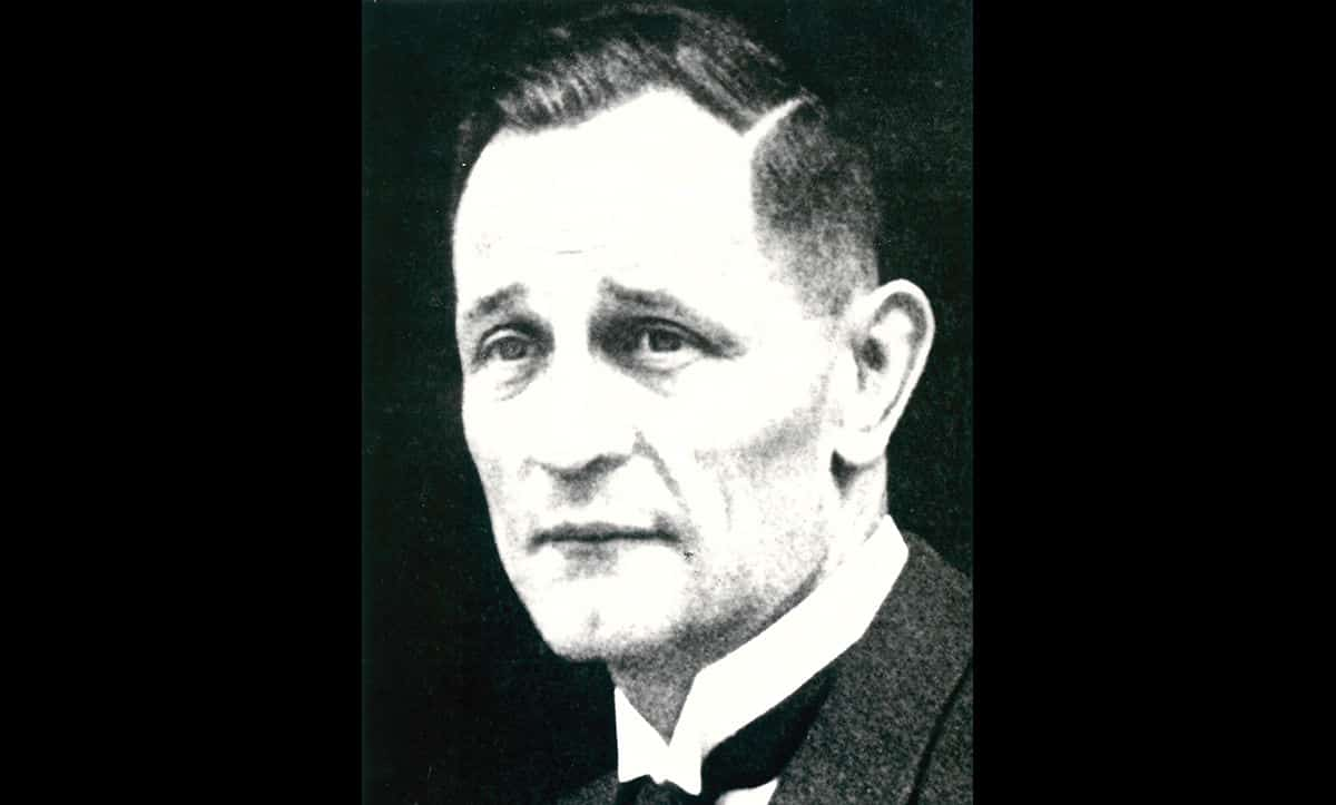 A portrait of Martin Niemöller, founder of the Confessing Church. The Confessing Church opposed the Nazi regime, its activities, and specifically its interference in religion.