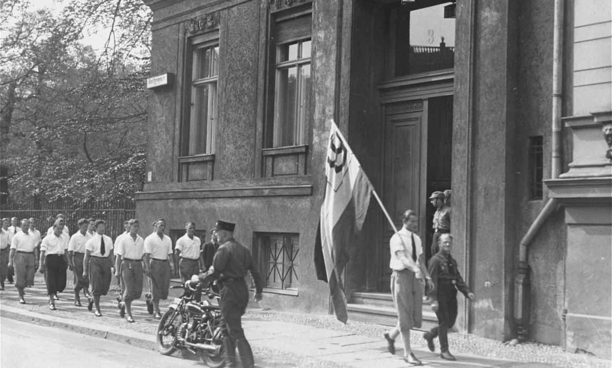 On 6 May 1933, the Nazis led the first physical attack on homosexuals following their rise to power. Students led by members of the SA attacked and looted the Institute of Sexual Research, set up by gay rights pioneer Magnus Hirschfeld in 1919. A few days following this, they burned the stolen books in the street.