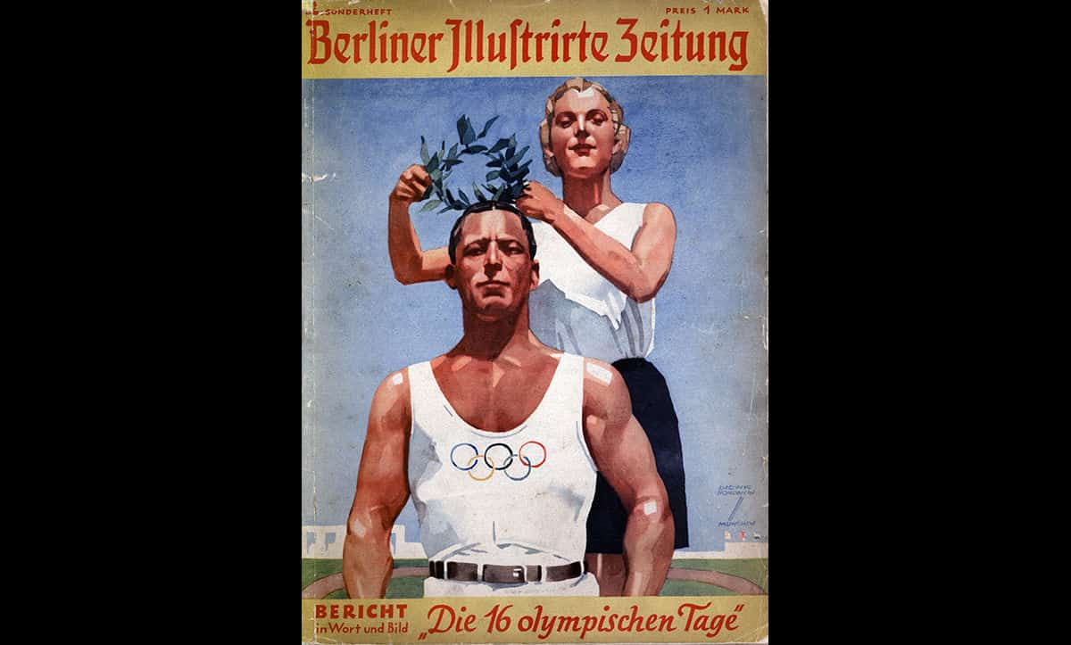 This image shows the front page of the Berliner Illustrirte Zeitung, a weekly magazine published in Berlin from 1892-1945. This issue was dedicated to the Berlin 1936 Olympics.
