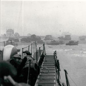 <p>On 6 June 1944, British, Canadian, French and US troops landed on the beaches of German-occupied France. This became known as D-Day.</p>