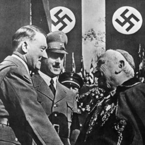 <p>On 20 July 1933, the Vatican signed a Concordat with the Nazis. This made the Vatican the first state to officially recognise Nazi Germany.</p>