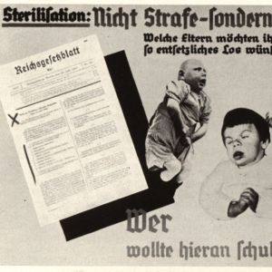 <p>On 14 July 1933, the Sterilisation Law was passed. This made sterilisation of the disabled compulsory. </p>