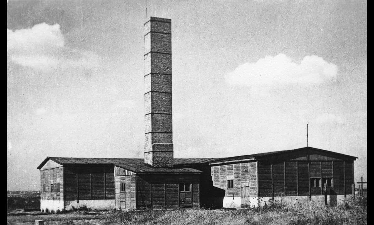 The crematorium at Majdanek Extermination Camp. Between its establishment in 1941 and its liberation in 1945, over 78,000 people were murdered at Majdanek.