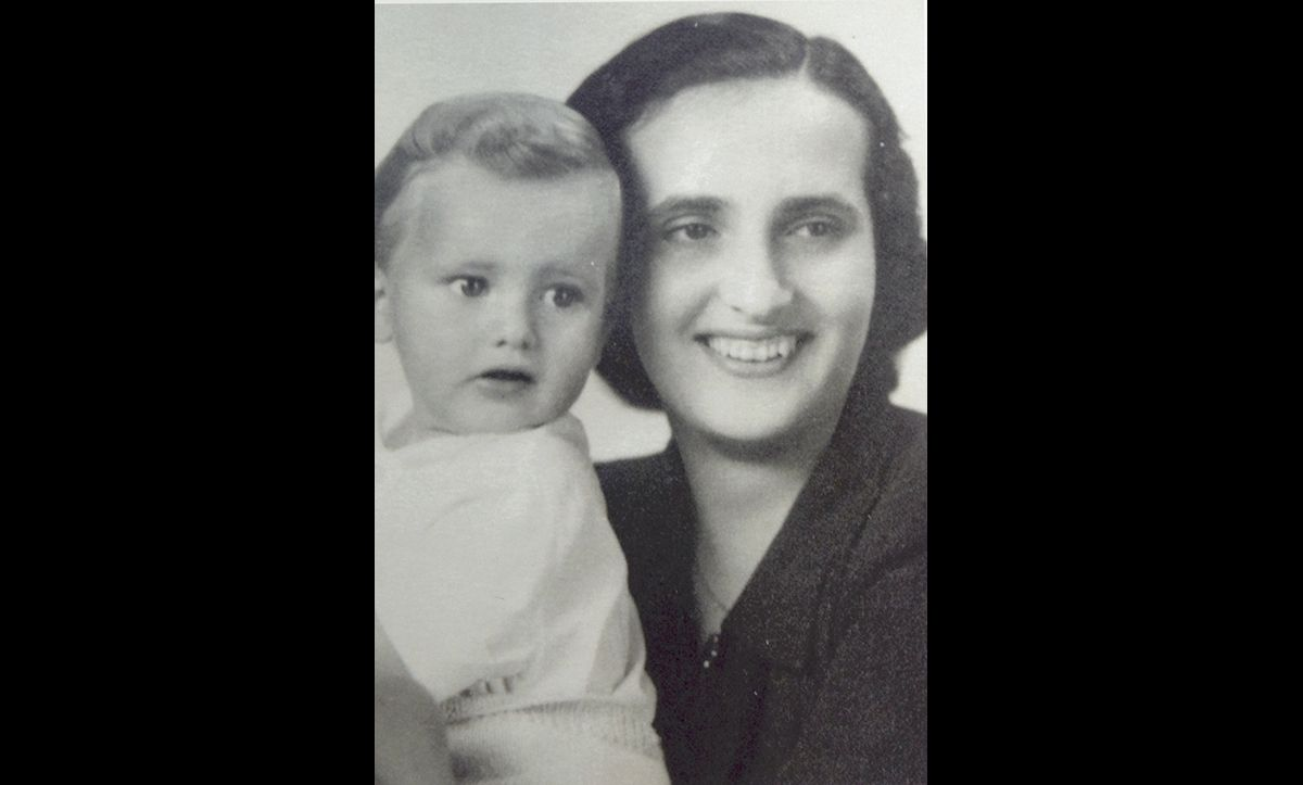 Agnes Balint (née Schachter) was a widowed Hungarian Jew from Budapest. She had one child, Gabriel Geza (pictured, left), who was born in September 1942. In 1944, Agnes and her son were hidden in the Hungarian countryside with the help of several 'Aryan' family friends, who gave her their papers and provided accommodation.