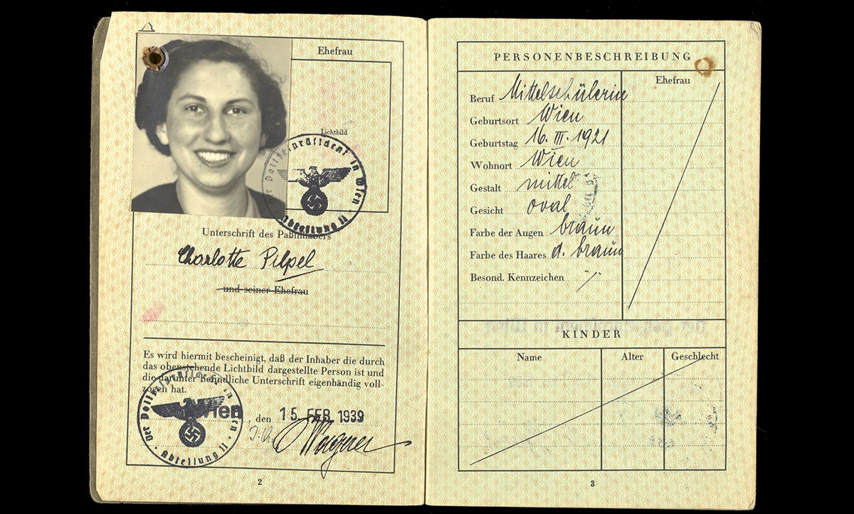 Lotte Pilpel was born in Vienna in 1921 to parents Emil and Serla. She had one older sibling, Fanny, born in 1916. By 1938, when Austria was incorporated into Nazi Germany, she was working as a nanny. Whilst the family desperately searched for routes out of Germany, Emil was imprisoned in a concentration camp. In May 1939, Lotte received permission to emigrate, and followed her sister to England.