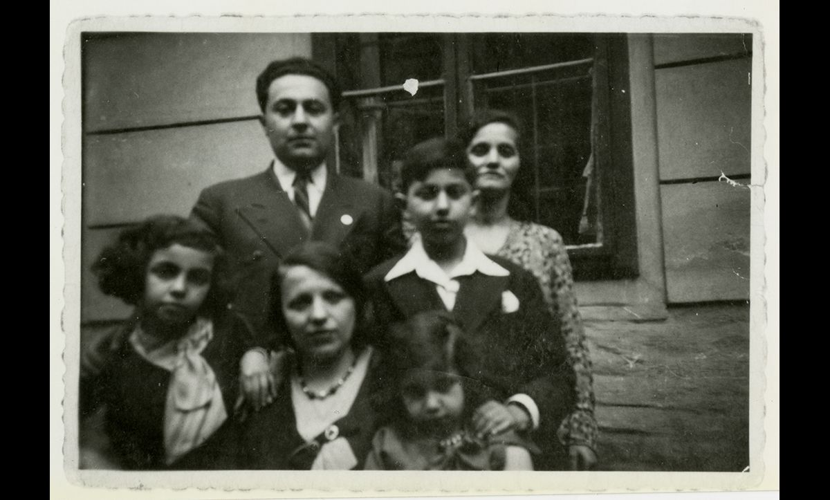 Leo Bretholz (pictured in the top centre of this photograph at his Bar Mitzvah) was born in Vienna in 1921. On 6 November 1942, he was put on a train from Drancy, an internment camp in the north of France, to Auschwitz. Bretholz and his childhood friend Manfred Silberwasser decided to jump off the train and escape the transport. Both survived the war.