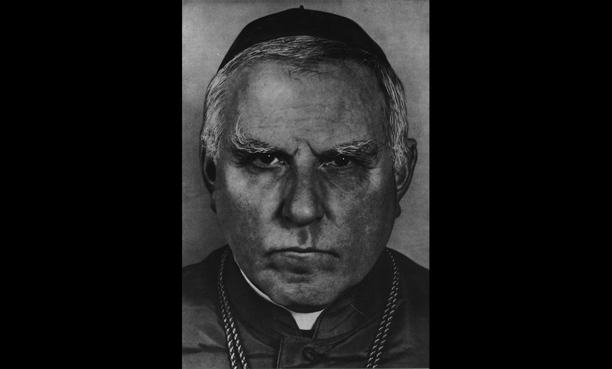 Clements August Count von Galen (1878-1946) was a Catholic Bishop in Munster. Whilst he expressed strong nationalist views, he was a critic of the Nazi regime from 1934. He is most well-known for his sermons condemning the T-4 programme in 1941. He died in 1946.