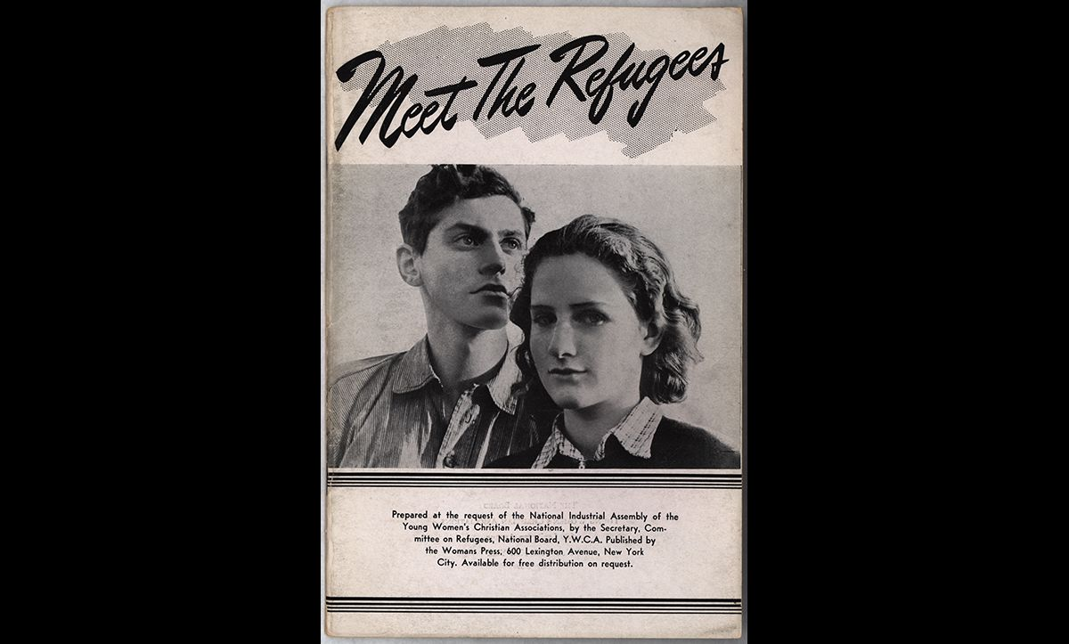 This pamphlet was published by the Young Women's Christian Association in America in September 1940. It attempted to reduce anti-refugee feeling in America, and thereby change the tide of public opinion. It was hoped that more public support would exert pressure on the government to take in more refugees.