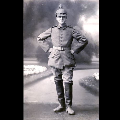 Ludwig Neumann, a German Jew from Essen, in his German Army uniform during the First World War. Neumann was awarded an Iron Cross for brave service during the First World War.