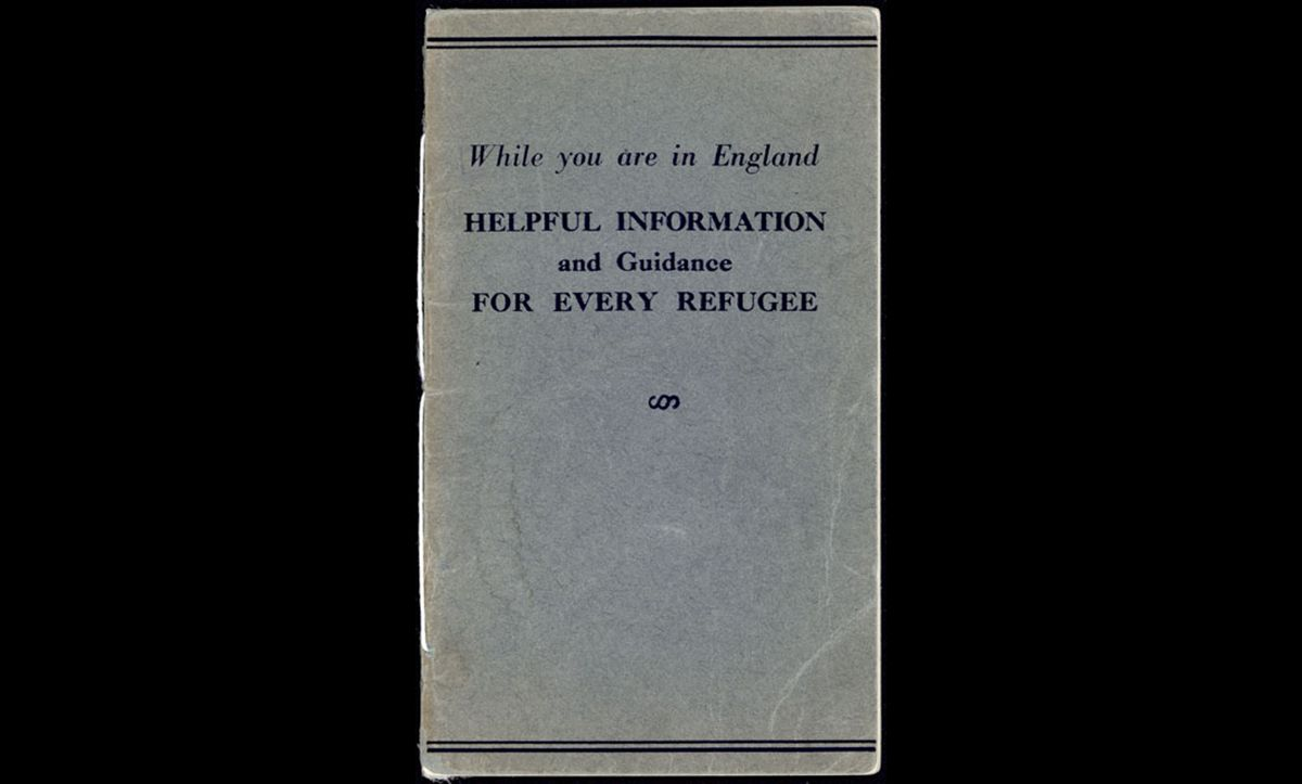 This pamphlet, While you are in England – Helpful Information and Guidance for Every Refugee, was published by the German Jewish Aid Committee and the Jewish Board of Deputies in around 1938. The pamphlet aimed to help refugees integrate in, and become accustomed to, British society.