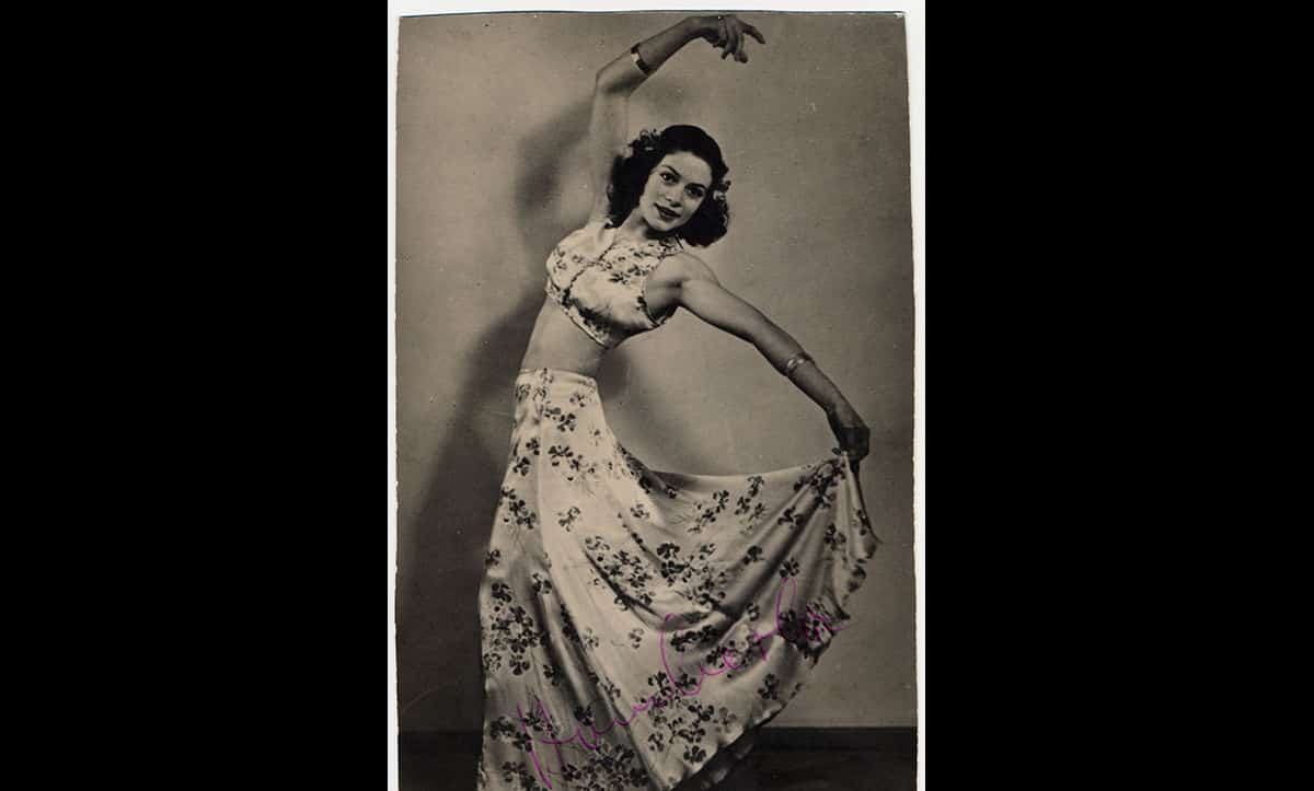 Theresia Seibel as a performer in the Würzburg Stadttheater in 1942, after she had been informed she would be sterilised, and shortly before she became pregnant with her twin daughters.