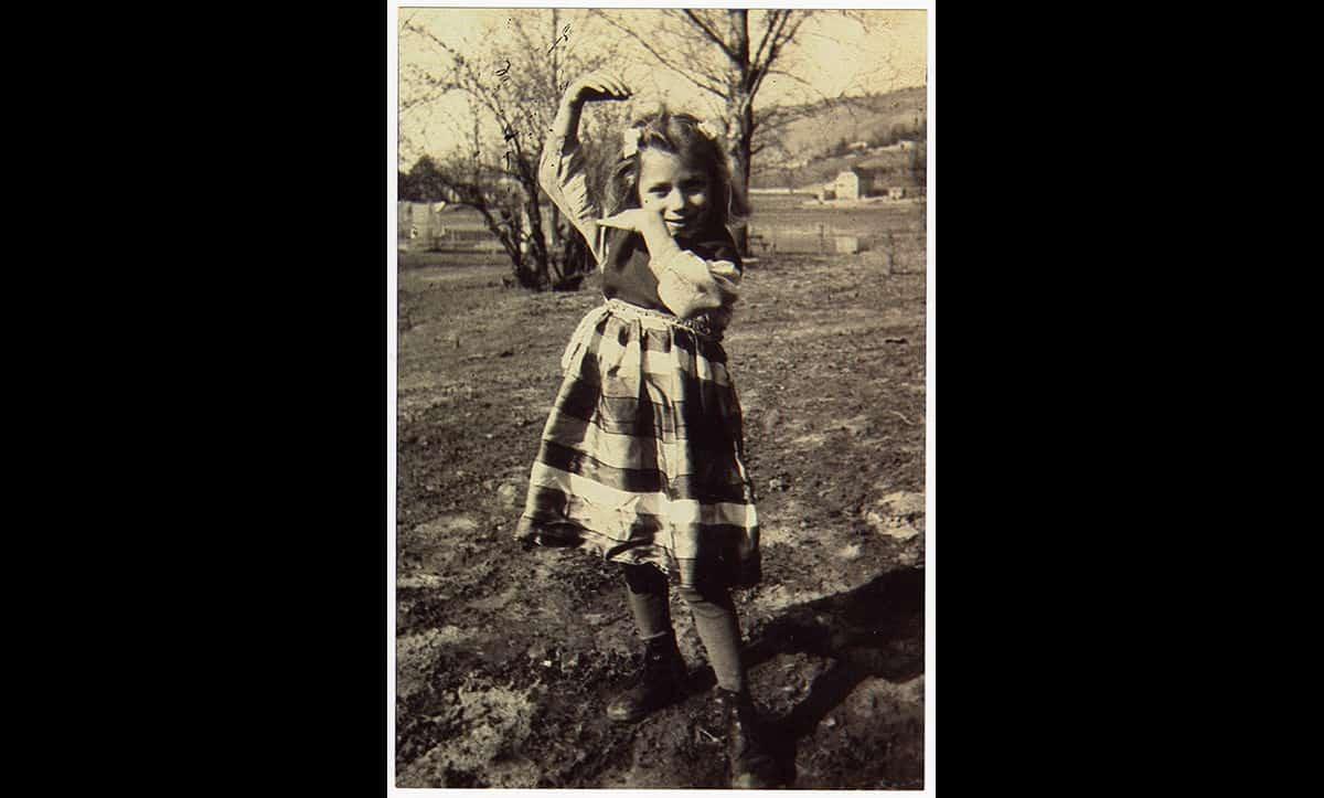 A postwar photograph of Rita Reinhardt Seibel, Theresia's surviving twin daughter, in 1948.