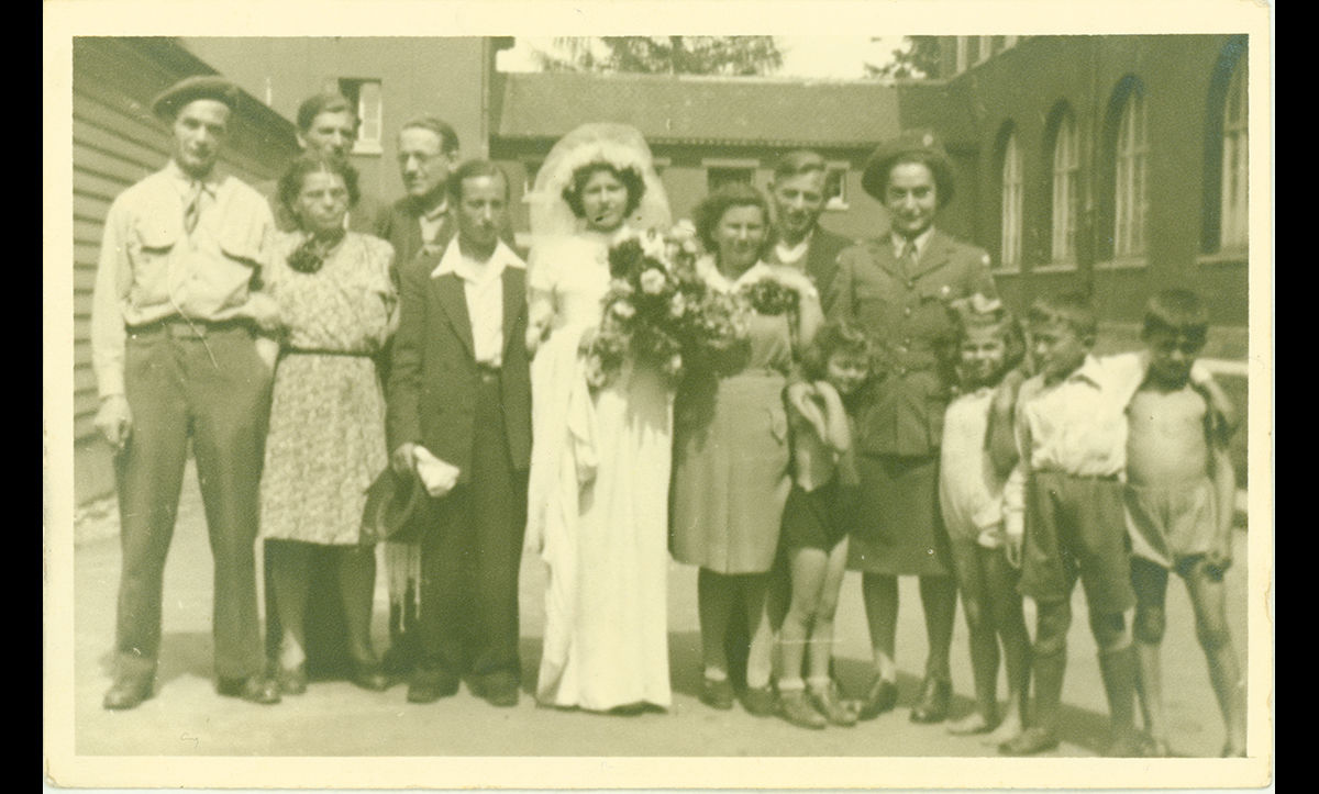 Weddings among DPs were commonplace in the DP camps. Here, a bride is pictured on her wedding day in Backnang Displaced Persons Camp in the late 1940s.