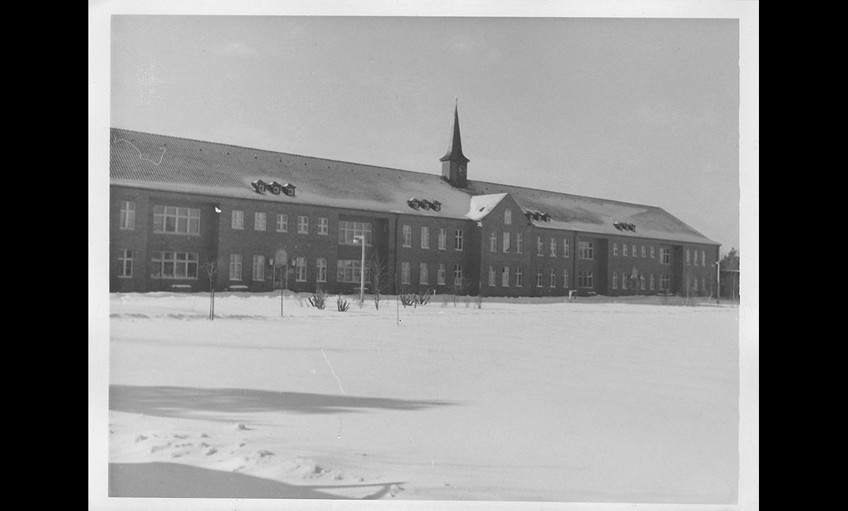 The hospital of the Bergen-Belsen DP camp in winter in the late 1940s.