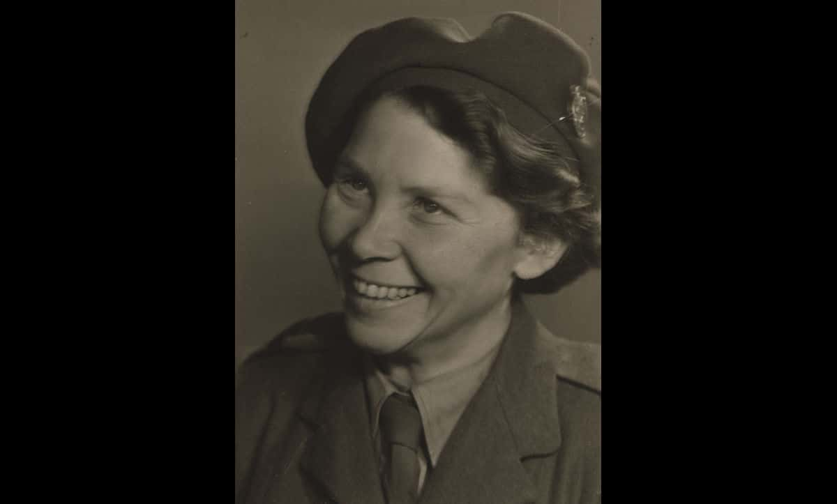 Senta Hirtz, a refugee from Nazi Germany, pictured after the war in 1945-46 as a Jewish Relief Unit Nurse in a Displaced Persons Camp in Celle, Germany.