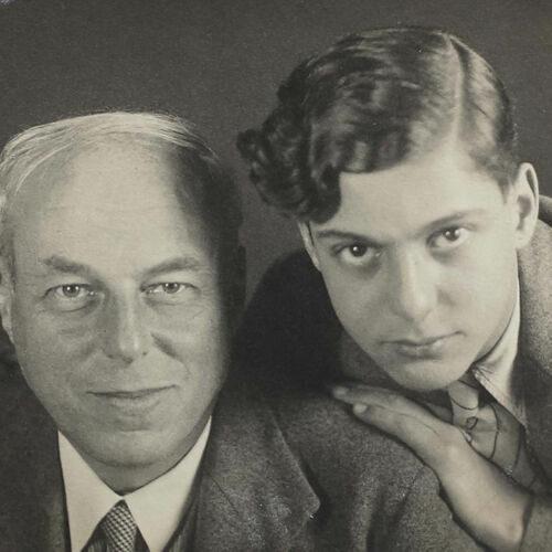 Wilhelm (left) and Bernard (right) Simon, c. 1939.