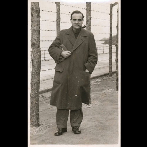 Ludwig Neumann in a British internment camp on the Isle of Man. c.1940.