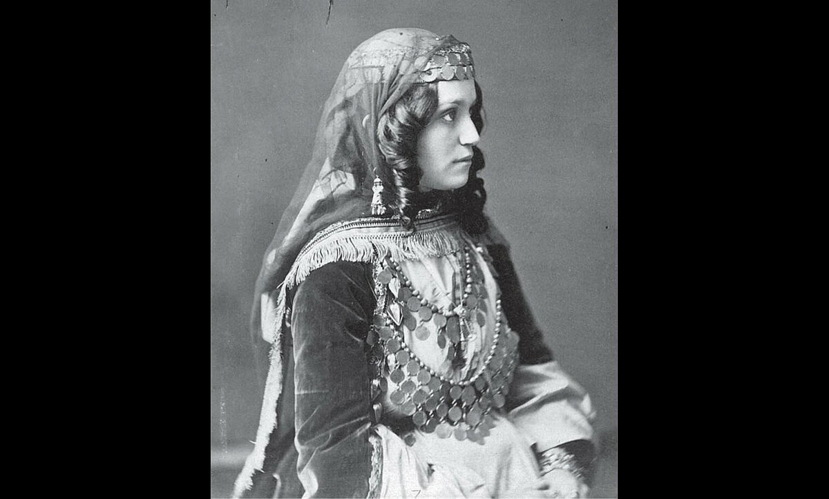 A photograph of an unknown Armenian girl from Shamakhi (a city in modern-day Azerbaijan) in the nineteenth century, prior to the Armenian Genocide.