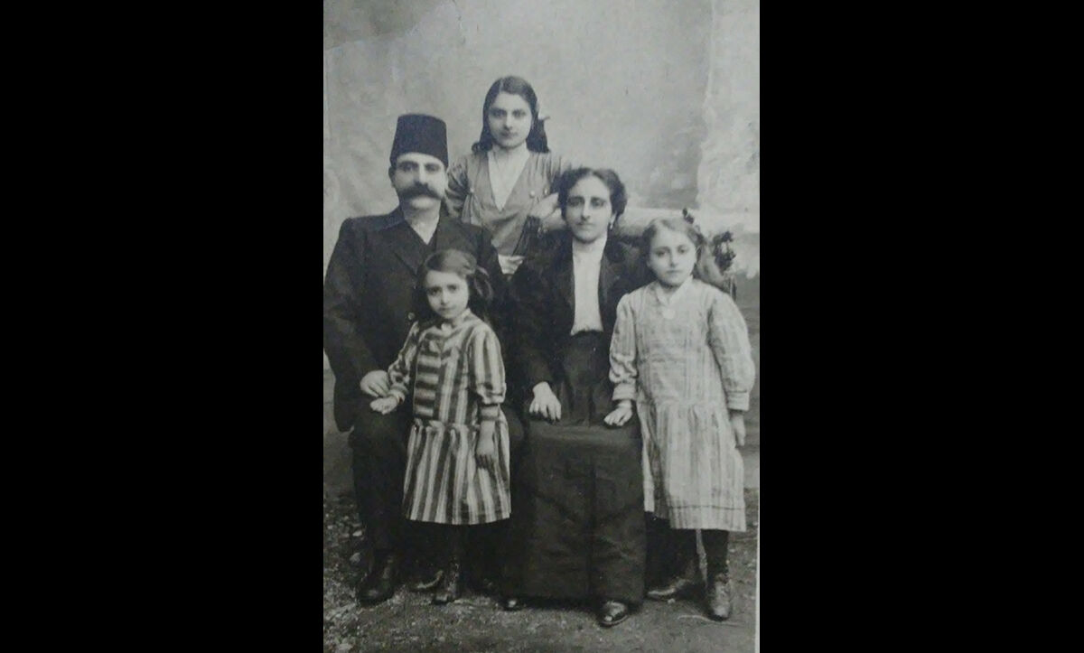 A photograph of Takvor and Yeghisapet Ashjian and their daughters Eugenie, Hamaspur and Mariam, an Armenian family, all of whom were killed in 1915 during the Armenian Genocide. C.1908-1910.