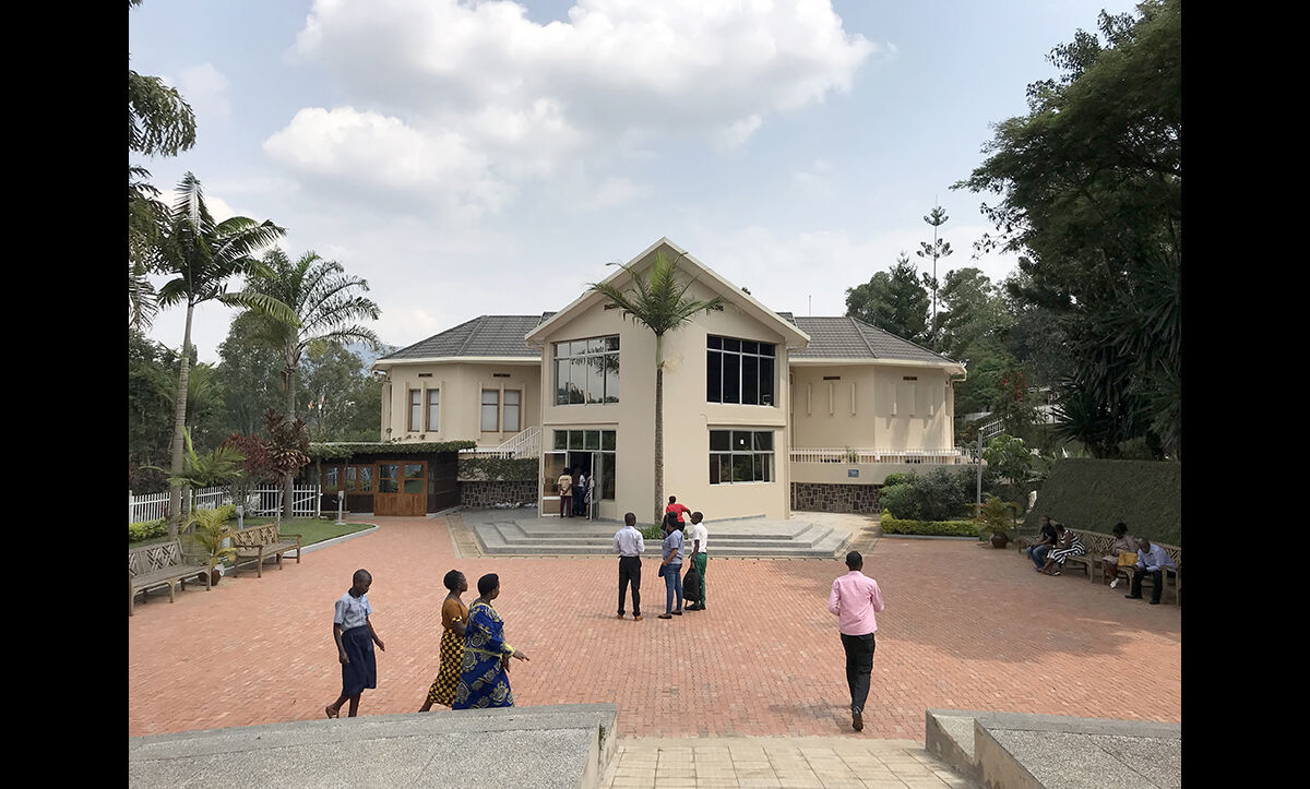 The Genocide Memorial in Kigali, the capital of Rwanda, which commemorates the 1994 Rwandan genocide. The remains of over 250,000 people are buried here.